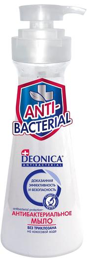 Деоника Antibacterial на Кокосовой Воде мыло антибактериальное без триклозана (500 мл)