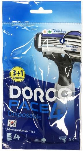 Dorco Pace 4 станок бритвенный одноразовый мужской (4 станка в пачке) 12 пачек