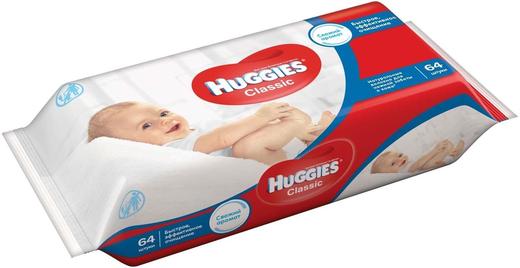 Huggies Classic салфетки влажные детские (168 салфеток в упаковке)