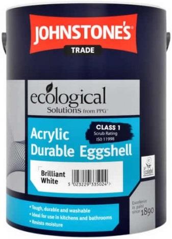 Johnstone's Acrylic Durable Eggshell акриловая краска (2.5 л) белая
