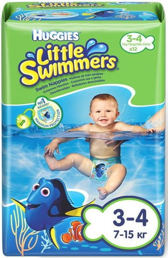 Huggies Little Swimmers трусики для плавания 12 трусиков в пачке 2-3