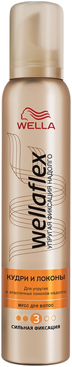 Велла Wellaflex Кудри и Локоны мусс для волос сильной фиксации (200 мл)