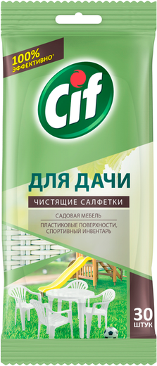 Cif чистящие салфетки для дачи (30 салфеток в пачке)