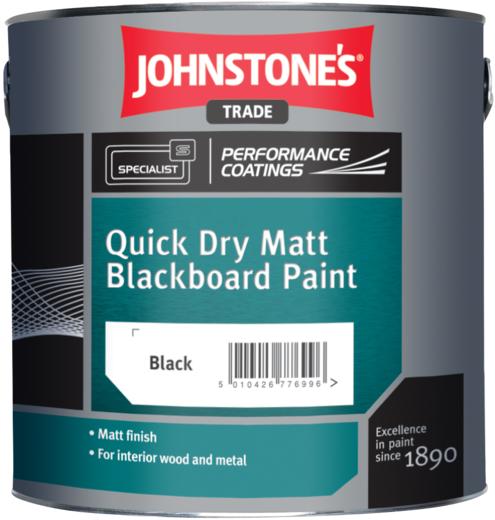 Johnstone's Quick Dry Matt Blackboard Paint матовая краска для покрытия школьных досок (2.5 л) черная