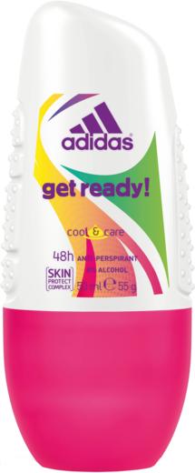 Адидас Get Ready Cool & Care антиперспирант роликовый женский без спирта (50 мл)