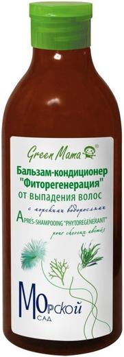 Green Mama Морской Сад Фиторегенерация с Морскими Водорослями бальзам-кондиционер от выпадения волос (400 мл)