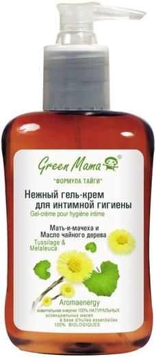 Green Mama Мать-и-Мачеха и Масло Чайного Дерева крем-гель нежный для интимной гигиены (100 мл)