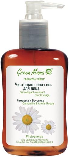 Green Mama Ромашка и Брусника пена-гель для лица чистящая (300 мл)