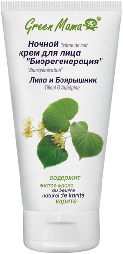 Green Mama Биорегенерация Липа и Боярышник крем для лица ночной (100 мл)