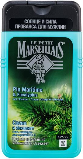 Le Petit Marseillais Сосна и Эвкалипт гель-шампунь для мужчин 3 в 1 (250 мл)