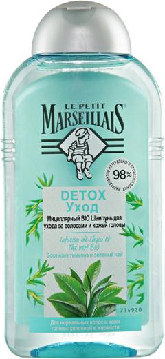 Le Petit Marseillais Detox Уход Эссенция Тимьяна и Зеленый Чай био шампунь мицеллярный для ухода за волосами и кожей головы (250 мл)