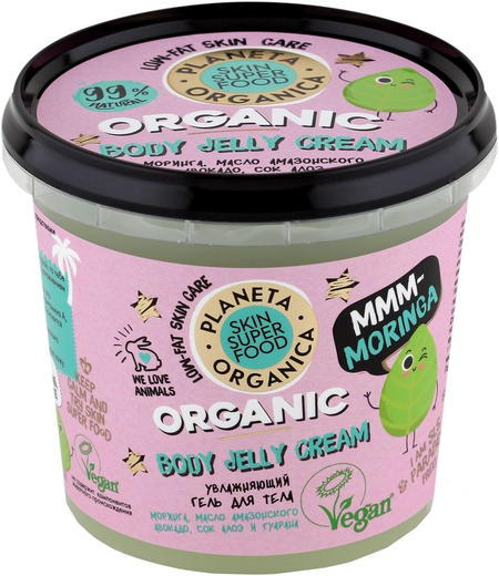 Планета Органика Skin Super Food Organic Body Jelly Cream Mmm-moringa гель для тела увлажняющий (360 мл)
