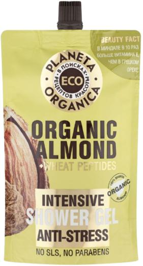 Планета Органика Eco Organic Almond+Wheat Peptides Антистресс гель для душа интенсивный (200 мл)