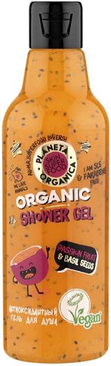Планета Органика Skin Super Food Passion Fruit & Basil Seeds гель для душа антиоксидантный (250 мл)