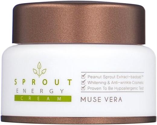 Deoproce Muse Vera Sprout Energy Cream крем для лица с экстрактом ростков баобаба (50 мл)