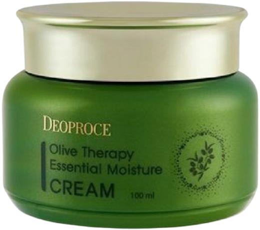 Deoproce Olive Therapy Essential Moisture Cream крем для лица с экстрактом оливы (100 мл)