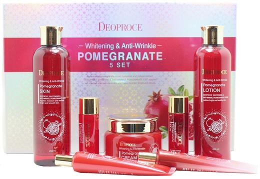 Deoproce Pomegranate 5 Set уходовый антивозрастной набор для лица с экстрактом граната (1 набор)