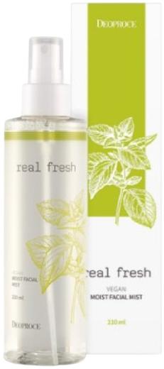 Deoproce Real Fresh Vegan Moist Facial Mist мист для лица увлажняющий с растительными экстрактами (210 мл)