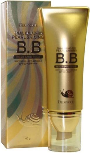 Deoproce Snail Galac-Tox Pearl Shining B.B No.23 Sand Beige SPF50+ ВВ крем на основе муцина улитки (40 мл)
