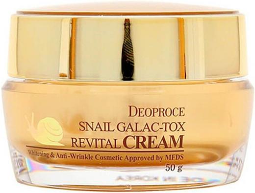 Deoproce Snail Galac-Tox Revital Cream крем антивозрастной с муцином улитки (50 мл)