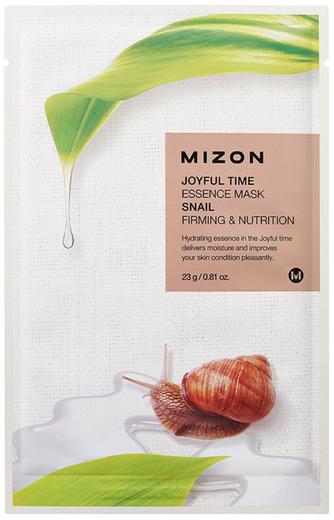 Mizon Joyful Time Essence Mask Snail маска для лица тканевая с экстрактом улиточного муцина (1 тканевая маска в саше)