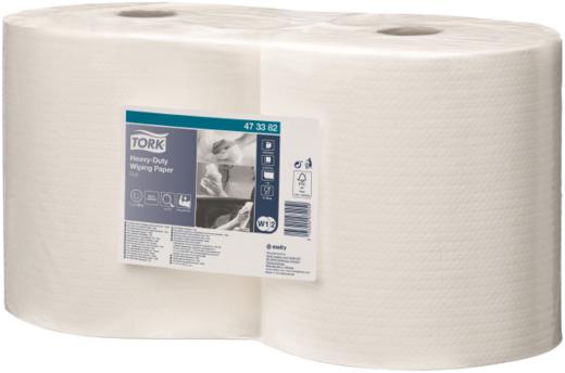 Tork Heavy-Duty Wiping Paper W1/W2 протирочная бумага повышенной прочности (2 рулона в пачке) 170 м