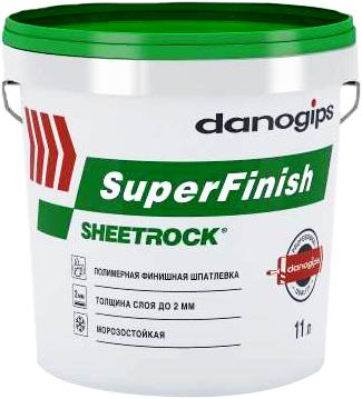 Danogips Superfinish полимерная финишная шпатлевка (11 л)