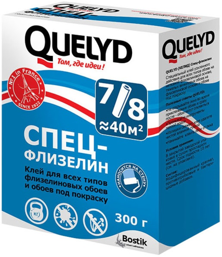 Quelyd Спец-Флизелин клей для всех видов флизелиновых обоев любой ширины (300 г)