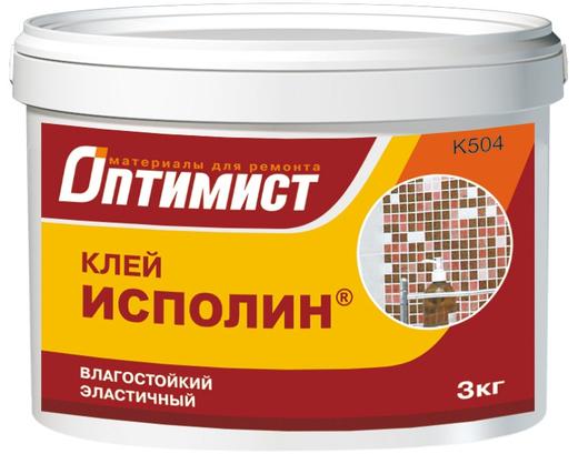 Оптимист K 504 Исполин клей влагостойкий эластичный для внутренних работ (3 кг)