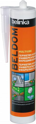 Белинка Beldom Multiuse герметик-клей универсальный окрашиваемый (290 мл) белый