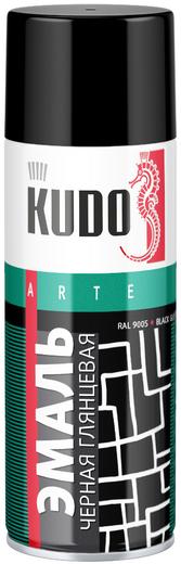 Kudo Arte Gloss Finish 3P Technology эмаль алкидная универсальная (520 мл) черная глянцевая
