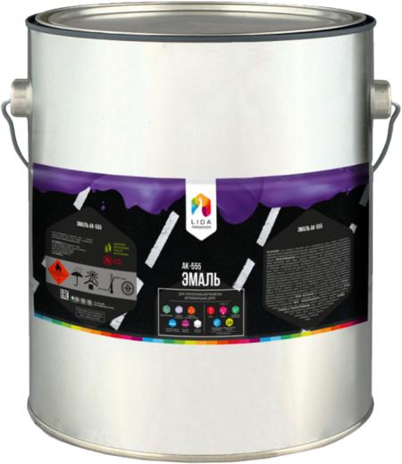 Лакокраска Lida АК-555 эмаль для горизонтальной разметки автомобильных дорог (30 кг) белая