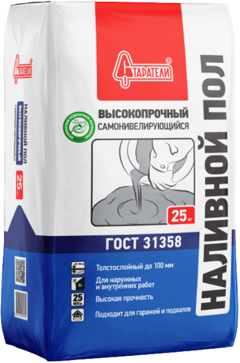 Старатели наливной пол высокопрочный самонивелирующийся (25 кг)