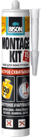 Bison Montage Kit Extreme Grip Быстрое Схватывание клей для конструкций (370 г)