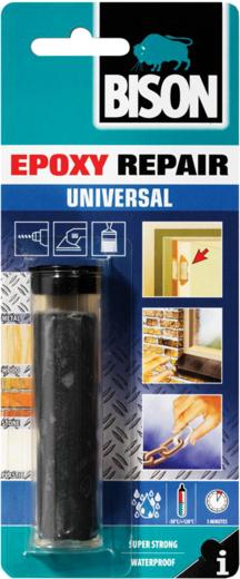 Bison Epoxy Repair Universal двухкомпонентная эпоксидная мастика (56 г) темно-серая