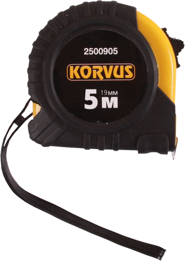 Рулетка Korvus (5*19 мм) обрезиненный пластик