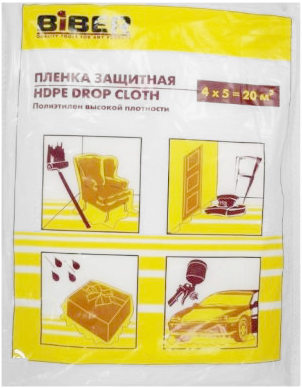 Пленка защитная Бибер HDPE Drop Cloth (4*5 м)