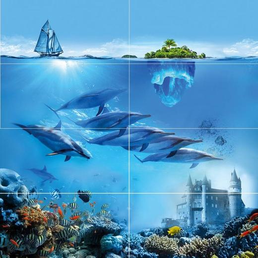 Ceramica Classic Ocean Deep Ocean Deep P8D302 панно настенное (800*800 мм)