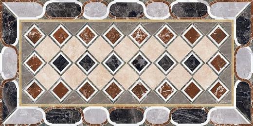 Kerama Marazzi Ковры Композиция Декорированный Лаппатированный SG594002R керамогранит напольный (1195 мм*2380 мм)