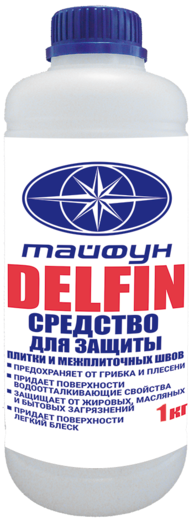Атлас Тайфун Delfin средство для защиты плитки и межплиточных швов (1 л)