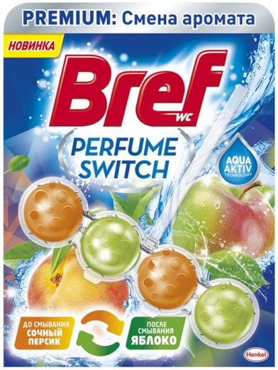 Бреф Premium Бреф Perfume Switch Персик-Яблоко подвесной туалетный блок (100 г)