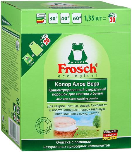 Frosch Колор Алоэ Вера концентрированный стиральный порошок для цветного белья (1.35 кг)