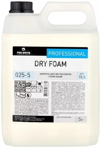 Pro-Brite Dry Foam шампунь для чистки ковров сухой пеной (5 л)