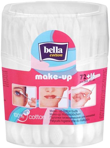 Bella Cotton Make-Up палочки для макияжа гигиенические (88 палочек в контейнере)