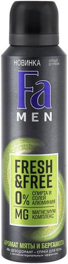 Fa Men Fresh & Free Аромат Мяты и Бергамота антиперспирант аэрозоль (150 мл)