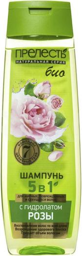 Прелесть Био с Гидролатом Розы шампунь для жирных, поврежденных и секущихся волос (400 мл)