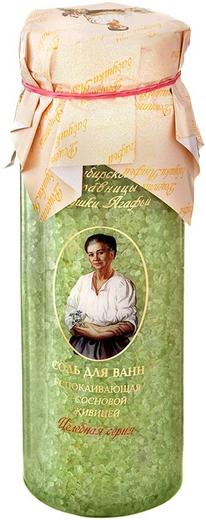 Рецепты Бабушки Агафьи Успокаивающая с Сосновой Живицей соль для ванн (800 г)
