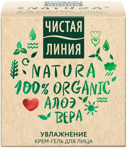 Чистая Линия Фитотерапия Natura Алоэ Вера крем-гель для лица увлажнение (45 мл)