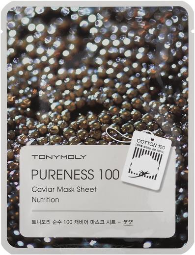 Tony Moly Pureness 100 Caviar Mask Sheet Nutrition тканевая подтягивающая маска с экстрактом черной икры (1 маска)