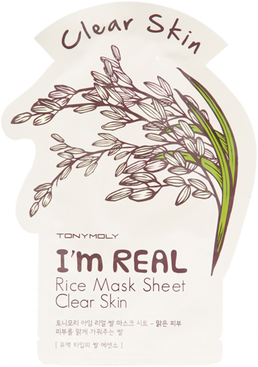 Tony Moly I'm Real Rice Mask Sheet Clear Skin тканевая маска для лица с экстрактом риса (1 маска)